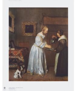 Gerard TerBorch, Eine Dame, die sich die Hände wäscht