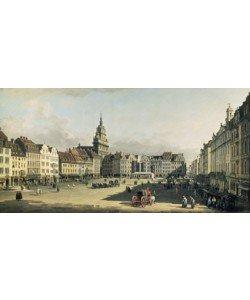 Giovanni Antonio Canaletto, Der alte Markt in Dresden