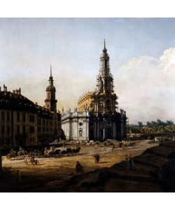 Giovanni Antonio Canaletto, Dresden vom linken Elbufer oberhalb des Altstädter Brückenkopfes