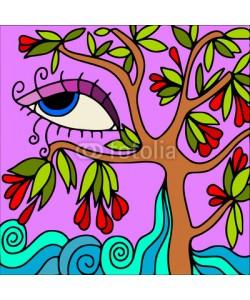goccedicolore, albero astratto