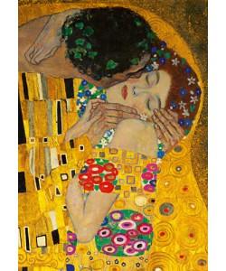 Gustav Klimt, Der Kuss (Ausschnitt)