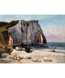Gustave Courbet, Falaise und Etretat und Boote