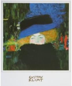 Gustav Klimt, Dame mit Hut und Federboa - 1909