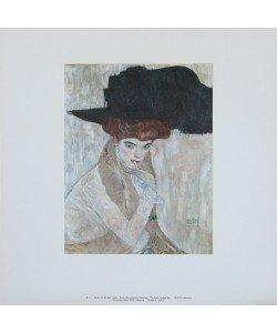 Gustav Klimt, Der schwarze Federhut - 1910