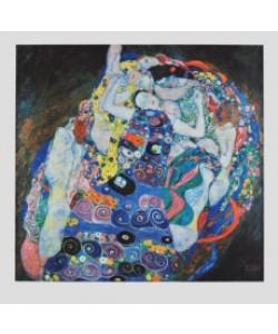 Gerahmtes Bild, Holz schwarz, G. Klimt, Die Jungfrau (Bütten)