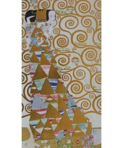 Gustav Klimt, Erwartung - mit Goldfolien (mit Folienprägung)