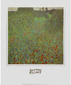 Gustav Klimt, Mohnwiese, 1907