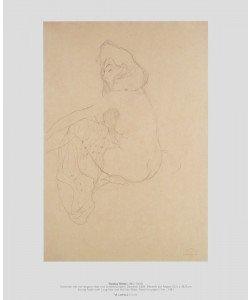 Gustav Klimt, Sitzender Akt mit langem Haar und Schleier
