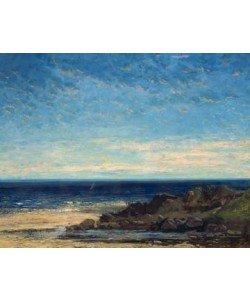 Gustave Courbet, Blaues Meer - blauer Himmel