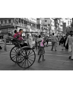Hady Khandani, COLORSPOT - RIKSHAW MAN CALCUTTA - INDIA