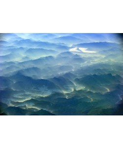 Hady Khandani, GEO ART - MOUNTAINS IN DAWN - SOUTH KOREA