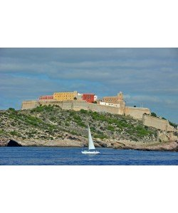 Hady Khandani, VIEW TO IBIZA OLD CITY - WITH SAIL BOAT