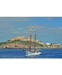 Hady Khandani, VIEW TO IBIZA OLD CITY - WITH SAIL SHIP