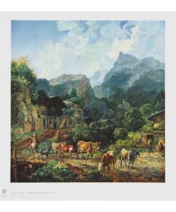 Heinrich Bürkel, Morgen in einem Tiroler Dorf
