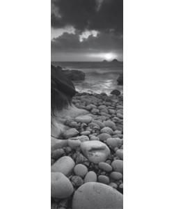 Helen Dixon, Rocky beach at sunset