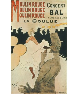 Henri de Toulouse-Lautrec, La Goulue au Moulin Rouge