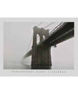Henri Silberman, Brooklyn Bridge Fog - Brooklyn-Bridge bei Nebel