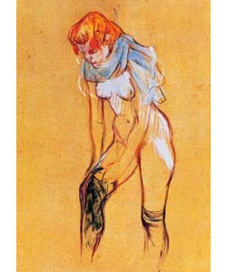 Henri de Toulouse-Lautrec, Femme, qui tire son bas