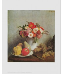 Henri Fantin-Latour, Stilleben mit Blumen und Früchten