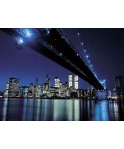 Henri Silberman, Brooklyn Bridge at Night