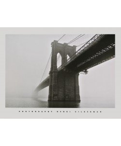 Henri Silberman, Brooklyn Bridge Fog - Brooklyn-Bridge bei Nebel
