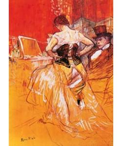 Henri de Toulouse-Lautrec, Femme, mettant son corset