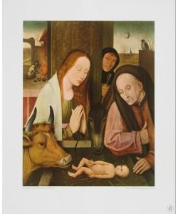 Hieronymus Bosch, Geburt Christi (Kupfertiefdruck)