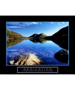 Bild mit Rahmen, Dermot Conlan, Hingabe: Jordan Pond, Aluminium schwarz glänzend