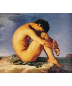 Hippolyte Flandrin, Jeune homme du assis