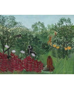 Henri Rousseau, Tropenwald mit Affen