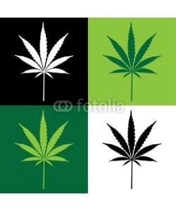 i3alda, four cannabis leaf illustration