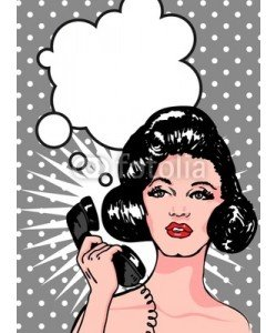 Icons Jewelry, Comics style girl woman