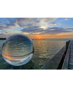 Rolf Fischer, Kugelwelt Sonnenuntergang am See