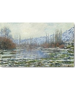 Claude Monet, Das Tauwetter in Vétheuil, 1880