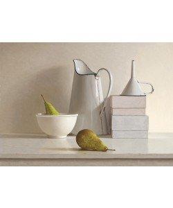 Willem de Bont, 2 pears, 2 boxes, jug, bowl and funnel