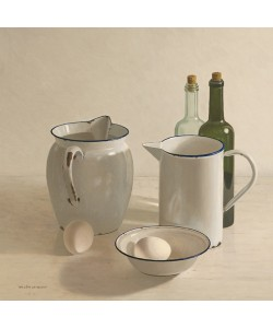 Willem de Bont, 2 jugs, 2 bottles, 2 eggs and a bowl