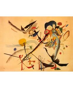 Wassily Kandinsky, Study for a blue segment