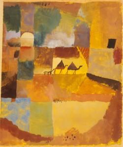 Paul Klee, Zwei Kamele und ein Esel 1919