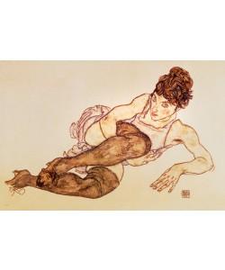 Egon Schiele, Liegende Frau ...