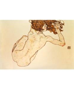 Egon Schiele, Kauernder Rücken-Akt