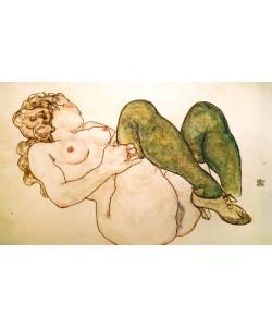 Egon Schiele, Akt mit grünen Strümpfen