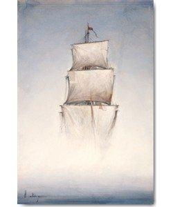 Leinwandbild, Yann Letestu, Danse la brume, Seitenflächen weiß
