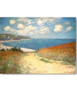 Claude Monet, Strandweg zwischen Weizenfeldern bei...