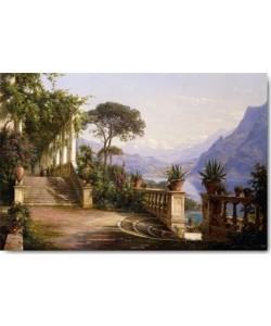 Carl Frederic Aagaard, Loggia mit Blick über den Comer See