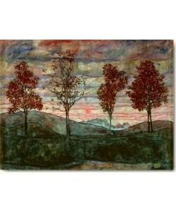 Egon Schiele, Vier Bäume