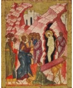 Ikone Russisch, Auferweckung des Lazarus II