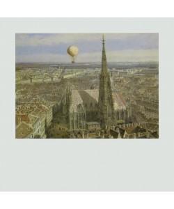 Jakob Alt, Ballonfahrt über Wien, 1847