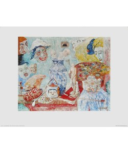 James Ensor, Stilleben mit Masken