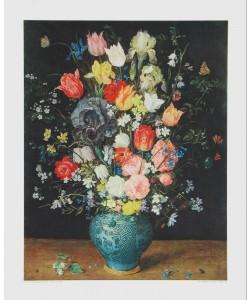 Jan Brueghel der Ältere, Blumen in blauer Vase