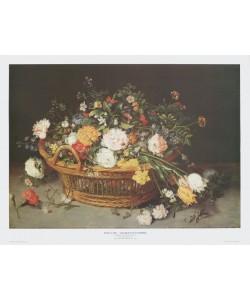 Jan Brueghel der Jüngere, Stilleben: Ein Blumenkorb